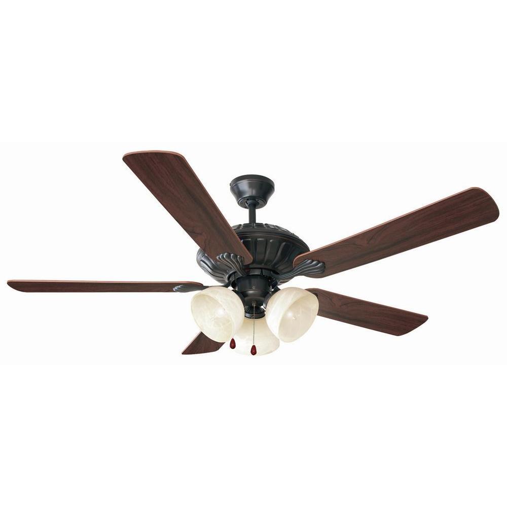 Trevie 52 in. Oil Rubbed Bronze Ceiling Fan