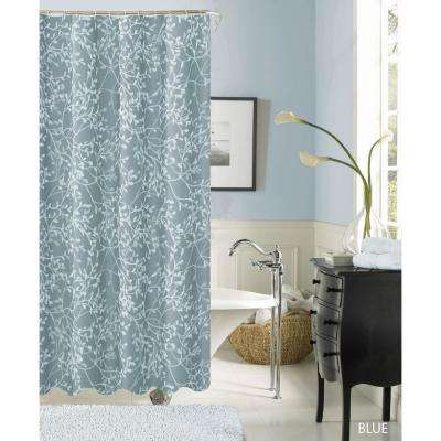 Willow 70 in. Fabric Shower Curtain