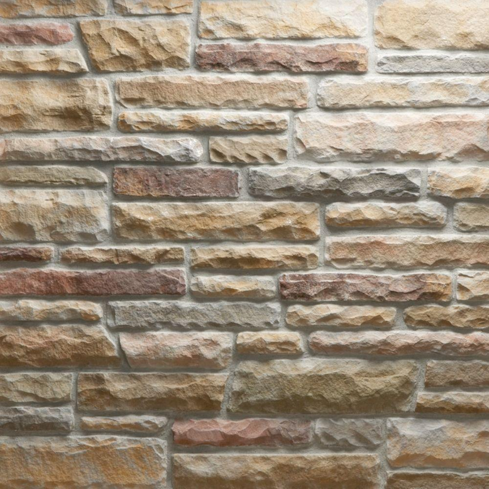 Veneerstone ledge stone mendocino flats 10 sq ft handy for Manufactured veneer stone