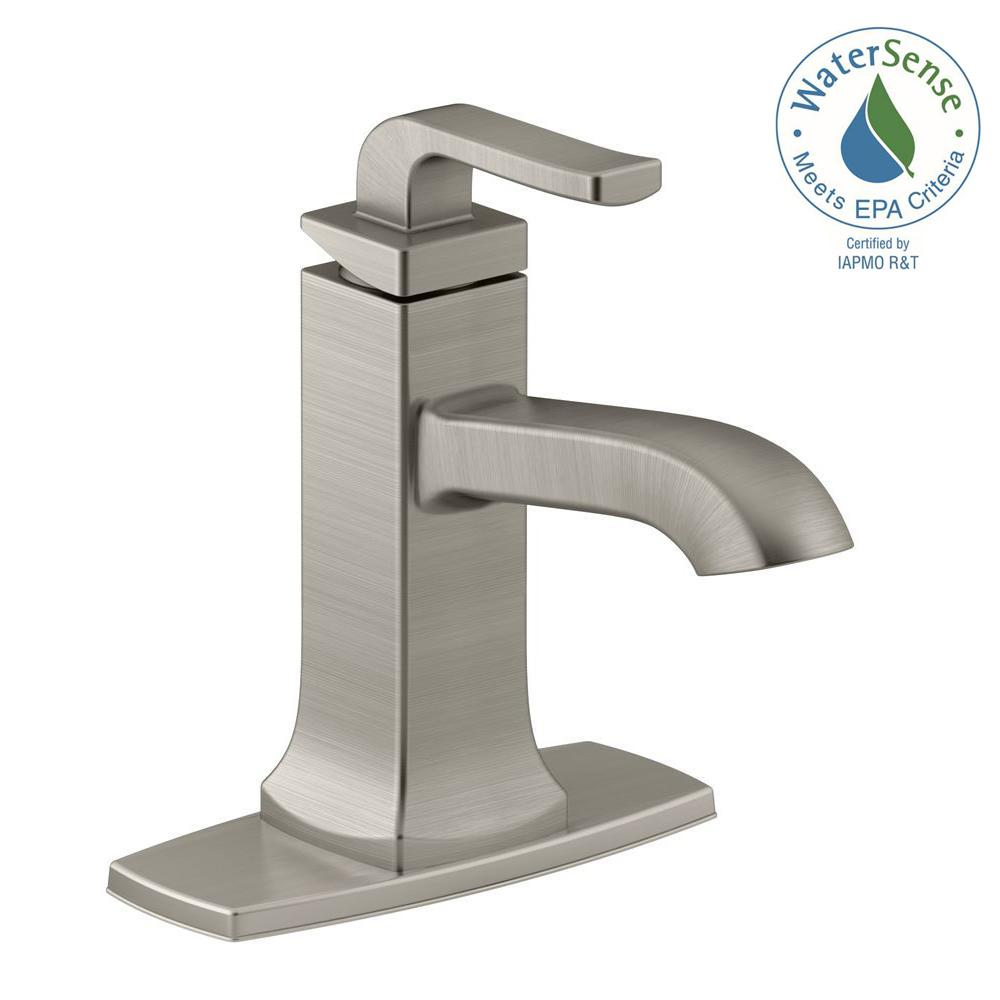 KOHLER Rubicon Single Hole Single Handle Bathroom Faucet In Vibrant Brushed  Nickel
