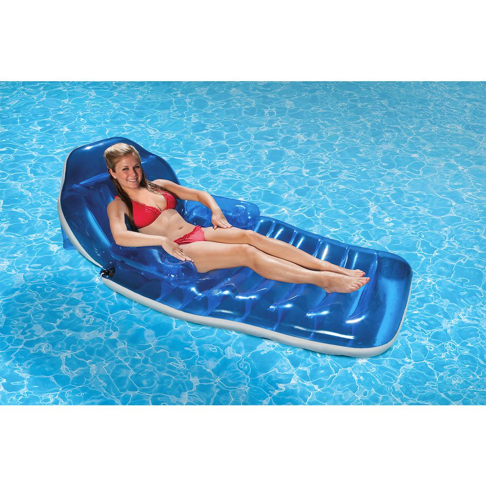 Poolmaster Adjustable Chaise Floating Swimming Pool Float Lounge