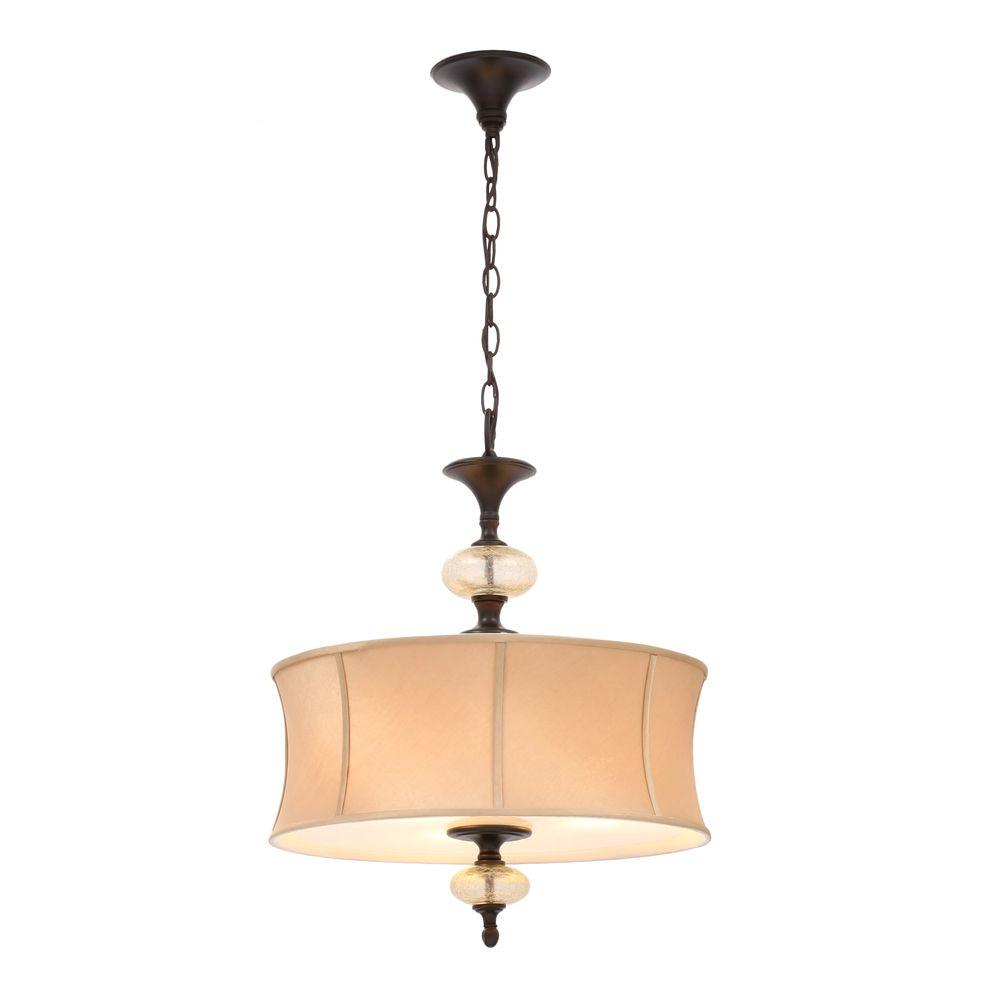 World Imports Chambord Collection 3-Light Weathered Copper Hanging Pendant