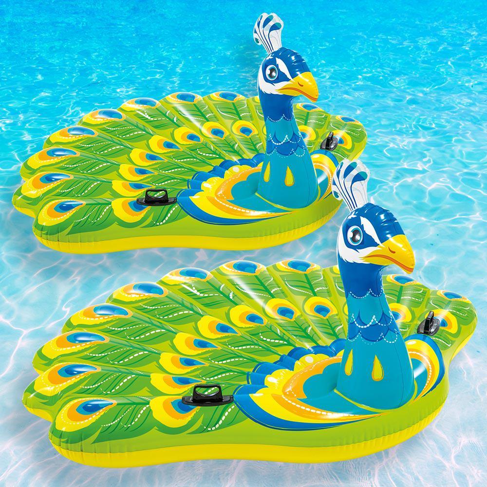 Peacock Island Pool Float (2-Pack)