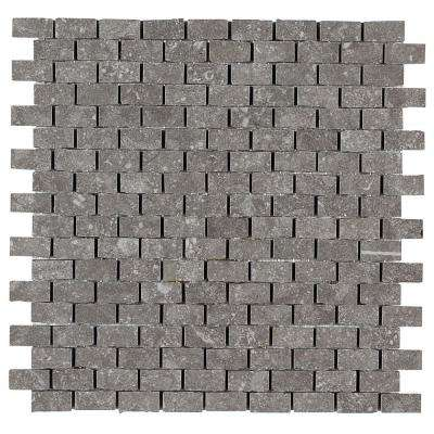 Albany Slate Gray 12 in. x 12 in. x 10mm Porcelain Brick-Joint Mosaic Tile