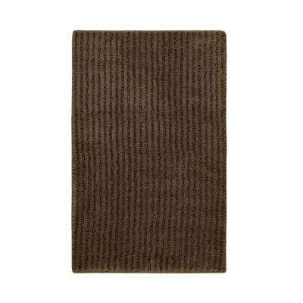 Sheridan Chocolate 24 in. x 40 in. Washable Bathroom Accent Rug