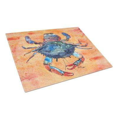 Crab Tempered Glass Large Heat Resistant Cutting Board