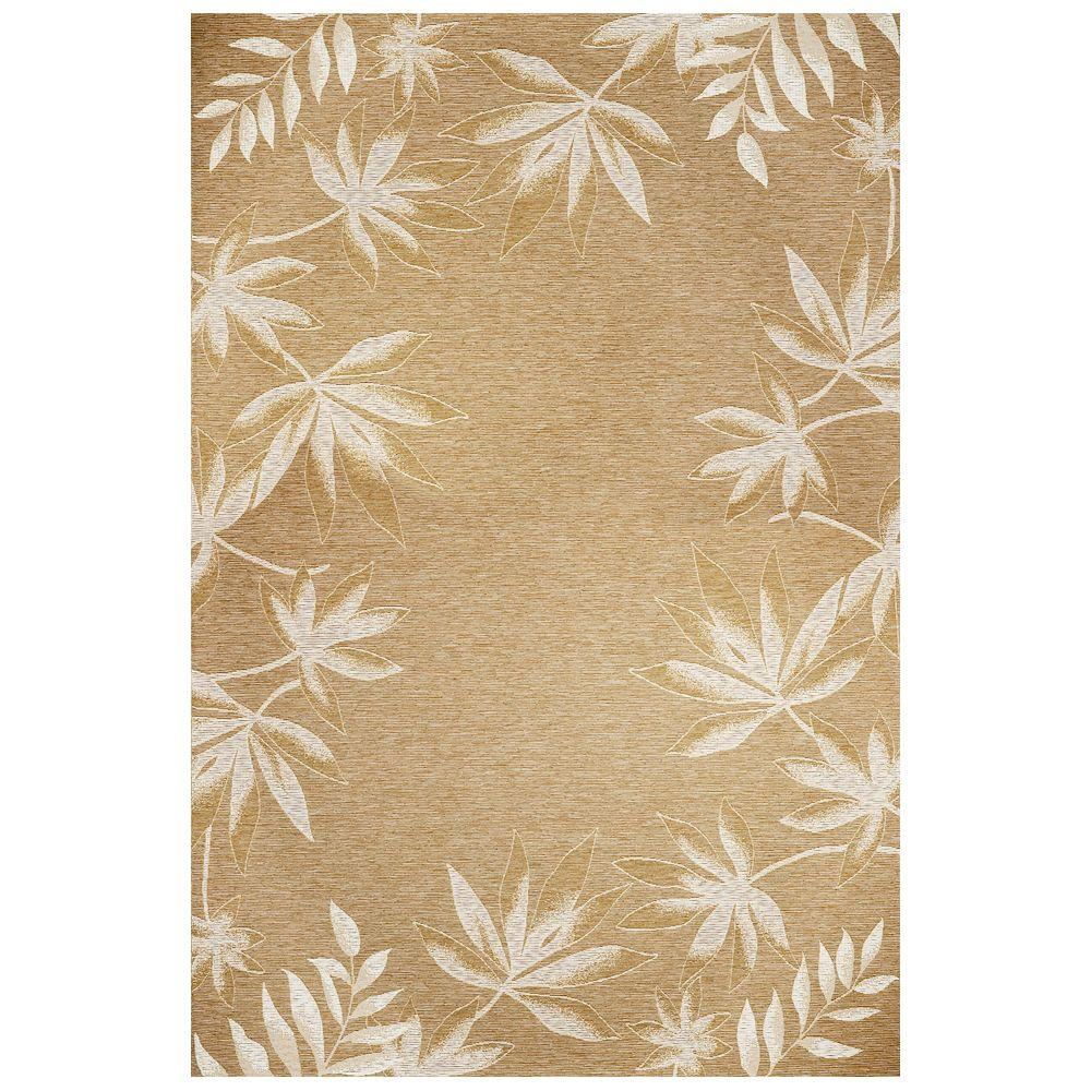 Kas Rugs Border Fern Sage 5 ft. 3 in. x 7 ft. 7 in. Area Rug
