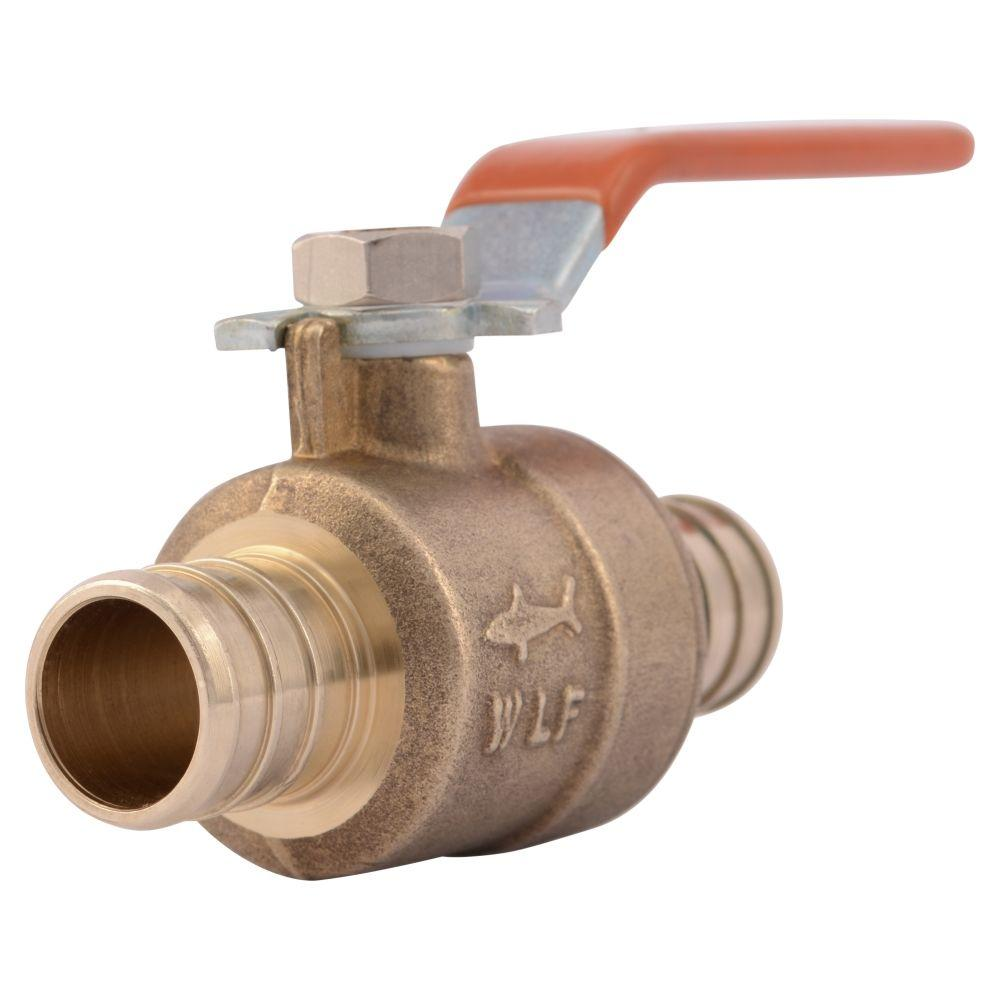 3/4 in. Brass PEX Barb x Barb Ball Valve