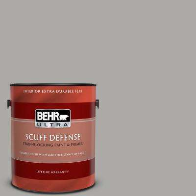 1 gal. #PPU18-14 Cathedral Gray Extra Durable Flat Interior Paint & Primer