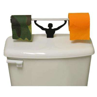Camo and Blaze Orange Toilet Paper in Multi-Color with Strong Man Holder Hunter Gift Set