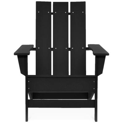 Aria Black Recycled Plastic Modern Adirondack Chair