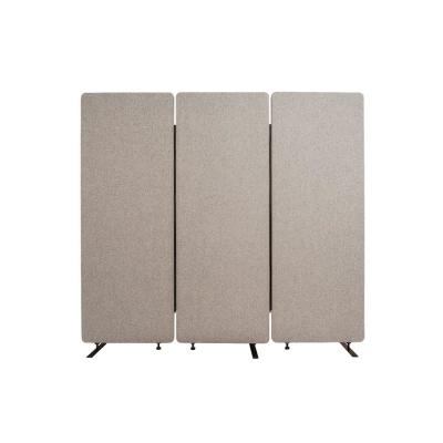 Reclaim 66 in. Misty Gray 3-Panel Room Divider