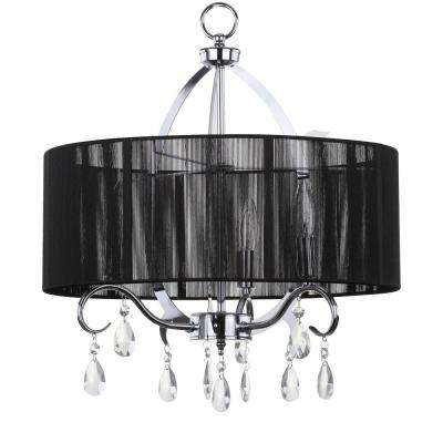 New Vienna 3-Light Chrome Chandelier