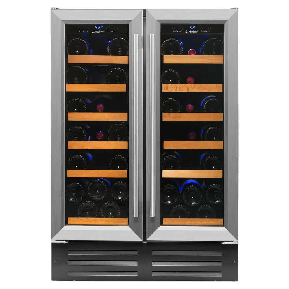 40-Bottle Dual Zone Built in Wine Cooler in Stainless Steel