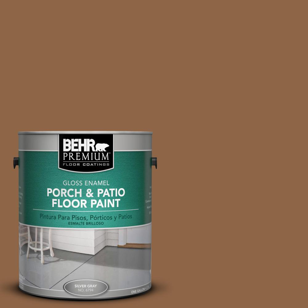 1 gal. #270F-7 English Saddle Gloss Porch and Patio Floor Paint