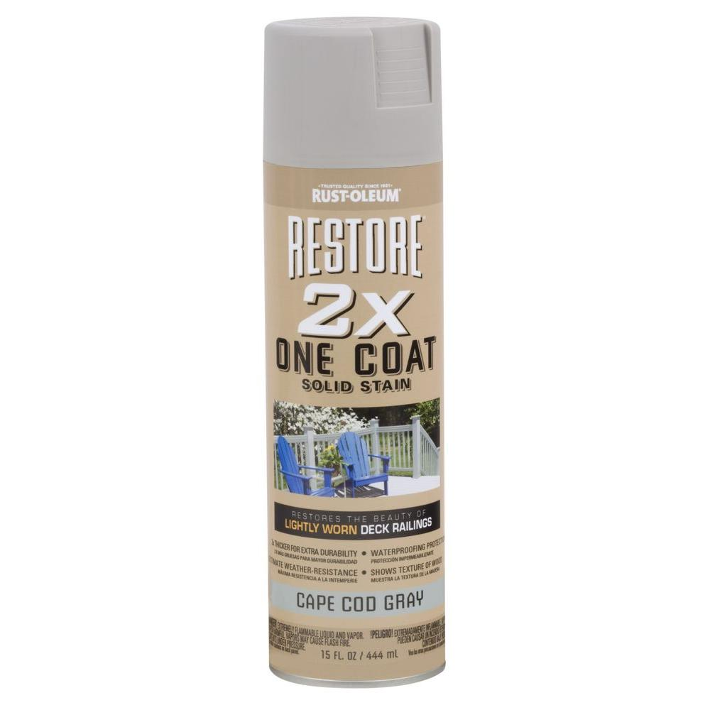 15 oz. 2X One Coat Cape Cod Gray Solid Stain Spray