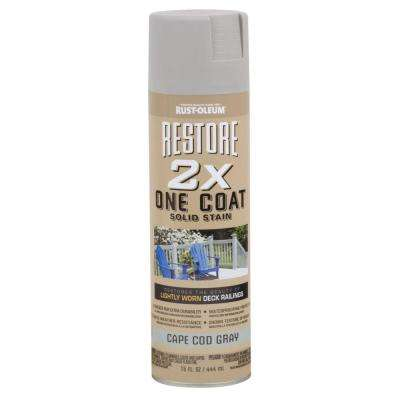 15 oz. 2X One Coat Cape Cod Gray Solid Stain Spray (Case of 6)