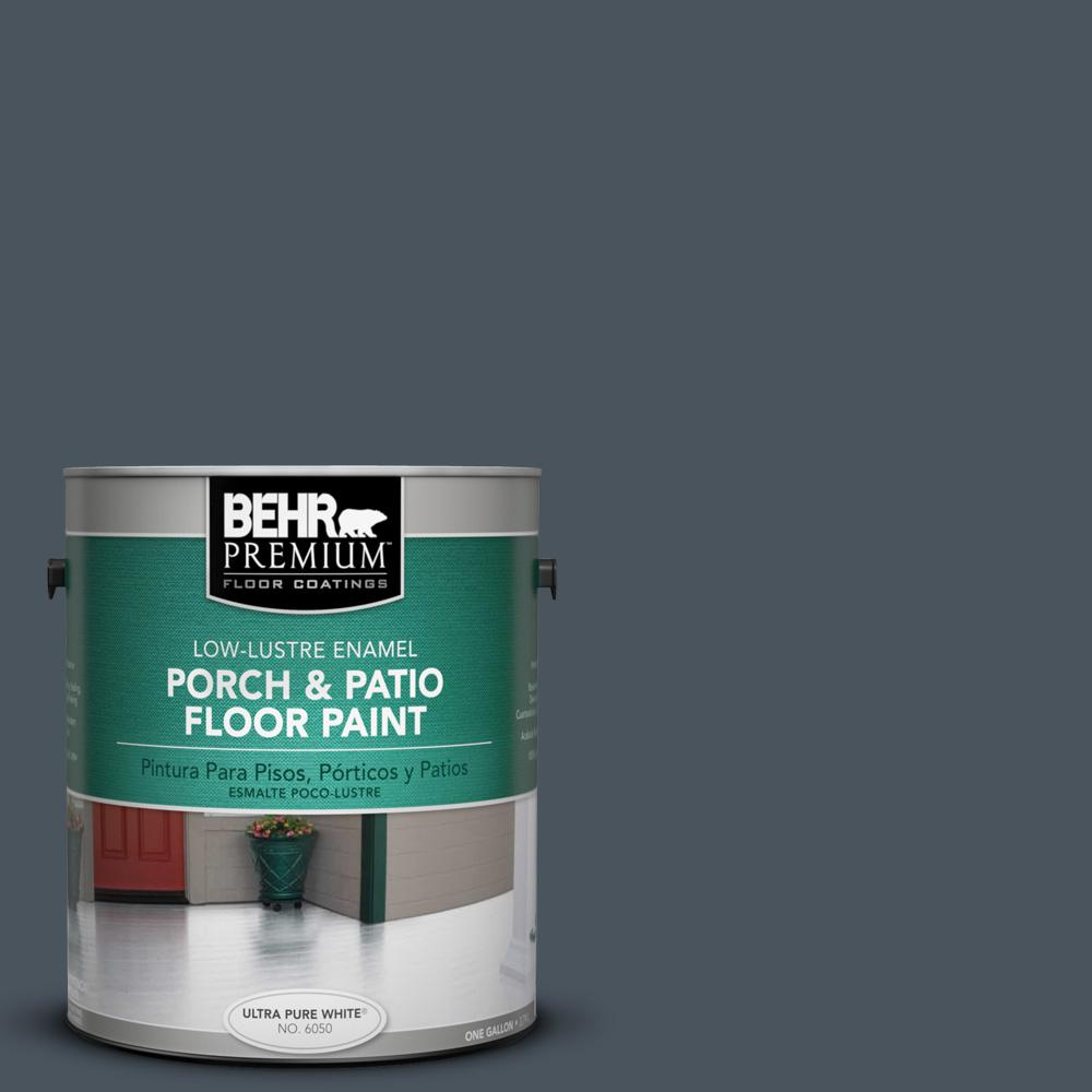 1 gal. #N480-7 Midnight Blue Low-Lustre Porch and Patio Floor Paint