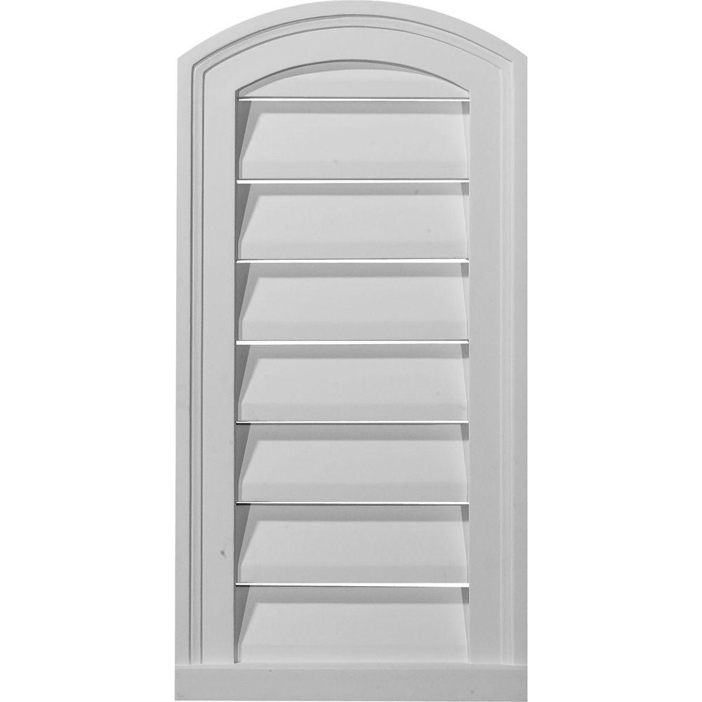 Ekena Millwork 1 1/8 in. x 12 in. x 24 in. Functional Eyebrow Gable Louver Vent