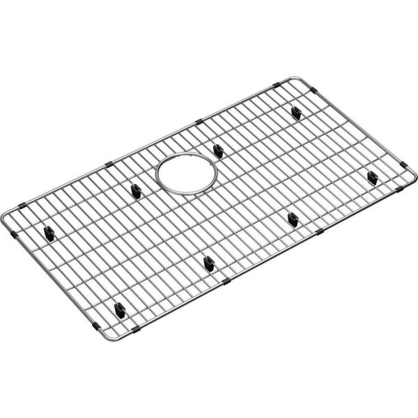 Crosstown 26.375 in. x 14.375 in. Bottom Grid for Kitchen Sink in Stainless Steel