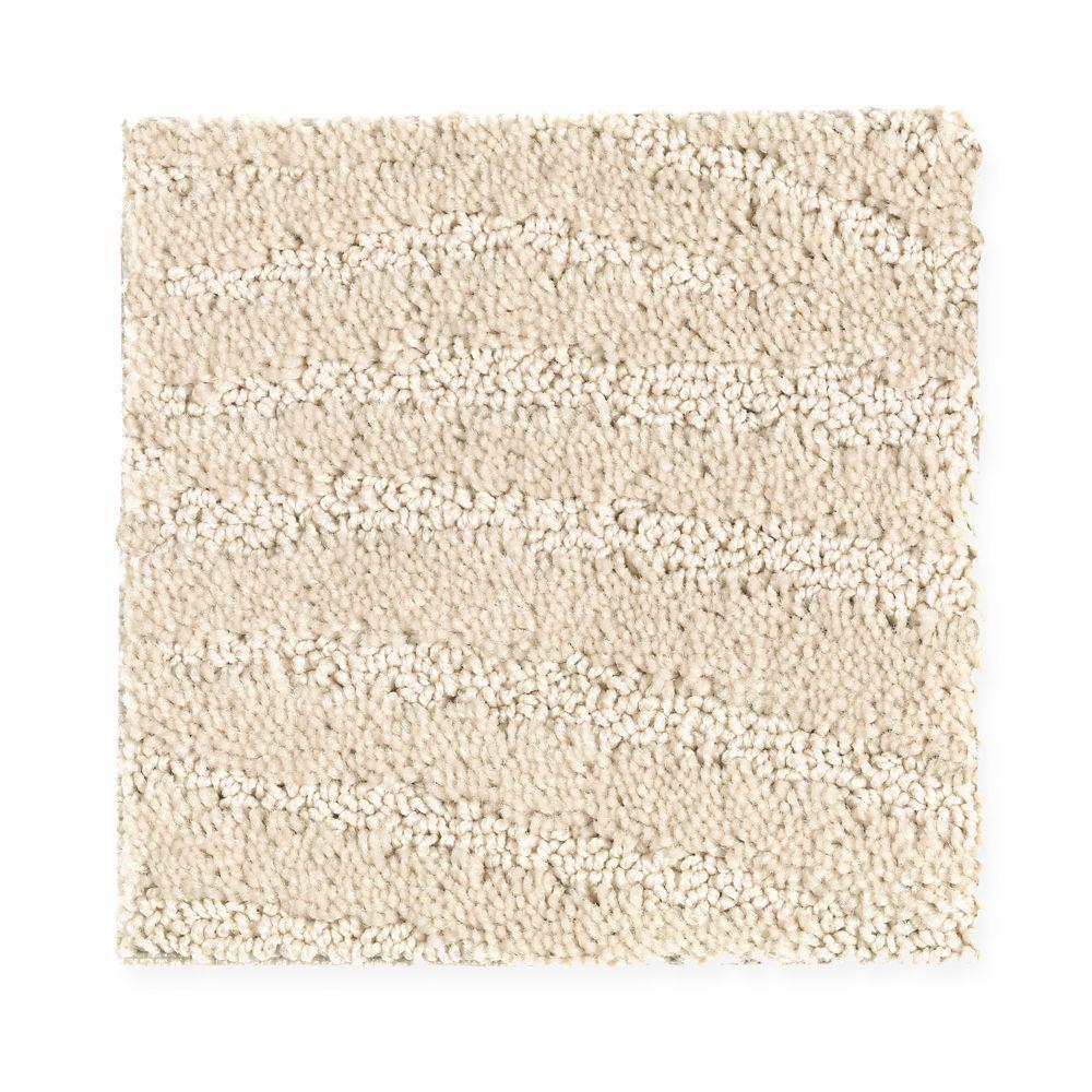 Carpet Sample - Typhoon - Color Shore Beige Pattern 8 in x 8 in