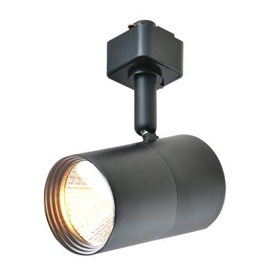 1-Light Black Integrated LED Mini-Cylinder Linear Track Lighting Head