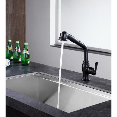 Del Moro Single-Handle Pull-Out Sprayer Kitchen Faucet in Oil Rubbed Bronze