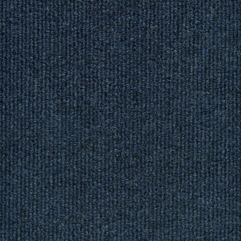 Trafficmaster elevations color ocean blue ribbed texture for Indoor out door carpet