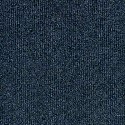 Elevations - Color Ocean Blue Ribbed Indoor/Outdoor 12 ft. Carpet