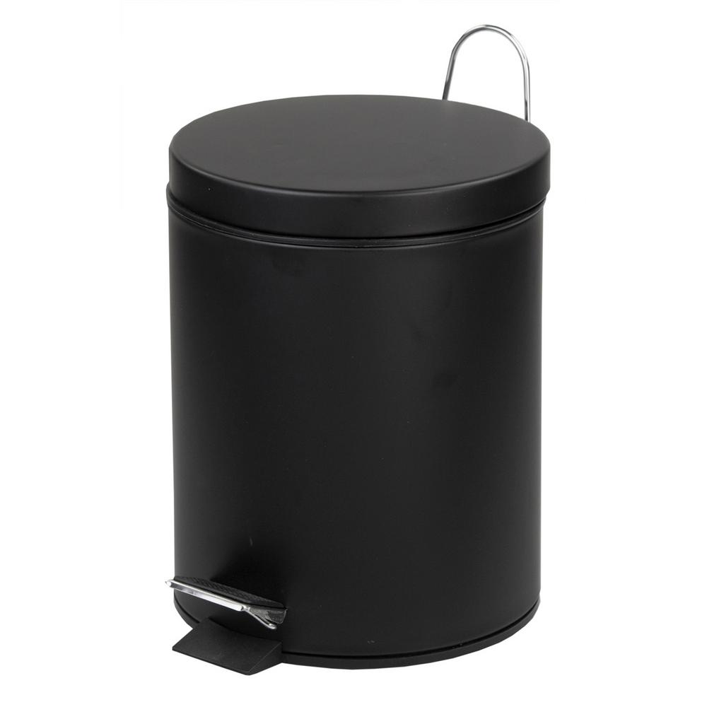 Home Basics 1.32 Gal. Stainless Steel Matte Trash Can With