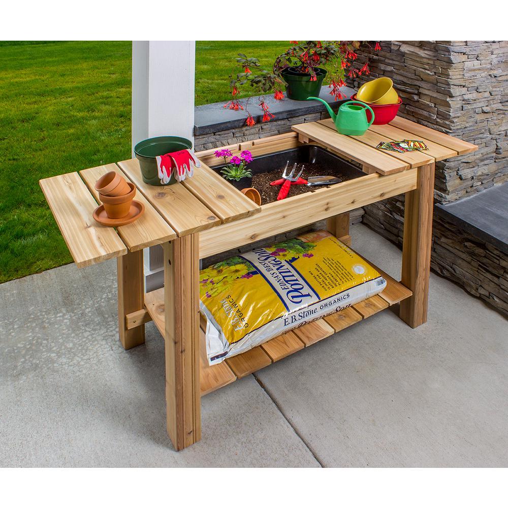Arboria 44.75 inch x 36 inch Cedar Potting Bench by Arboria
