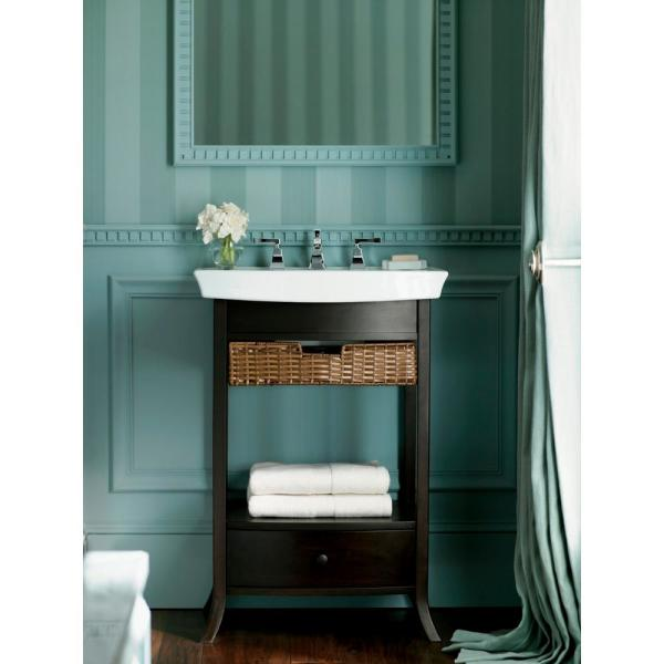 Kohler Archer 18 75 In W X 23 In D X 32 8125 In H Vanity Cabinet Only In Black Forest K 2449 F2 The Home Depot