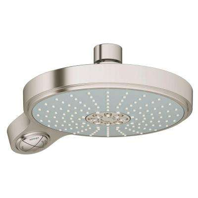 Power and Soul Cosmopolitan 4-Spray 7-1/2 in. Showerhead in Brush Nickel InfinityFinish
