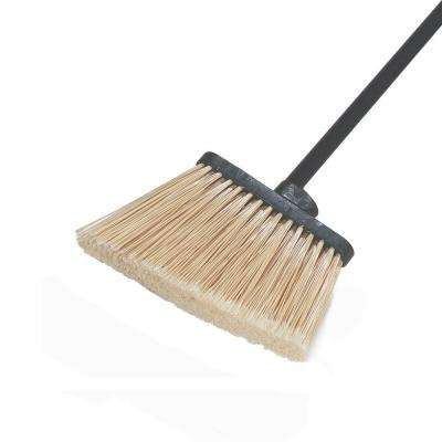 Duo-Sweep Medium Duty Angle Broom with 12 in. Flare Polypropylene Bristles (12-Pack)