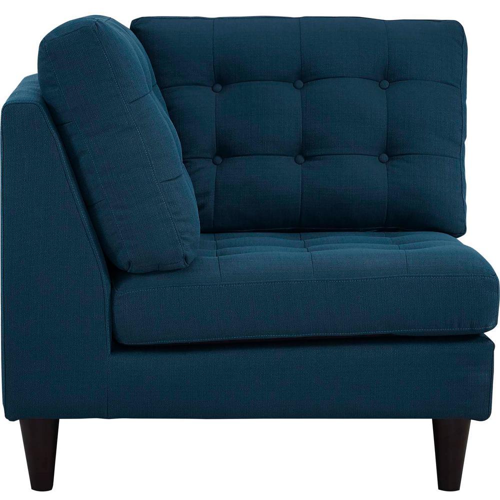 Empress Azure Upholstered Fabric Corner Sofa