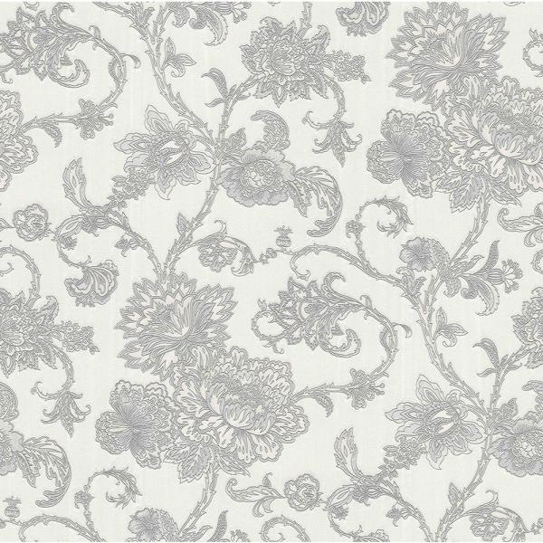 Brewster 56.4 sq. ft. Belinda Silver Trail Wallpaper 2768-3229