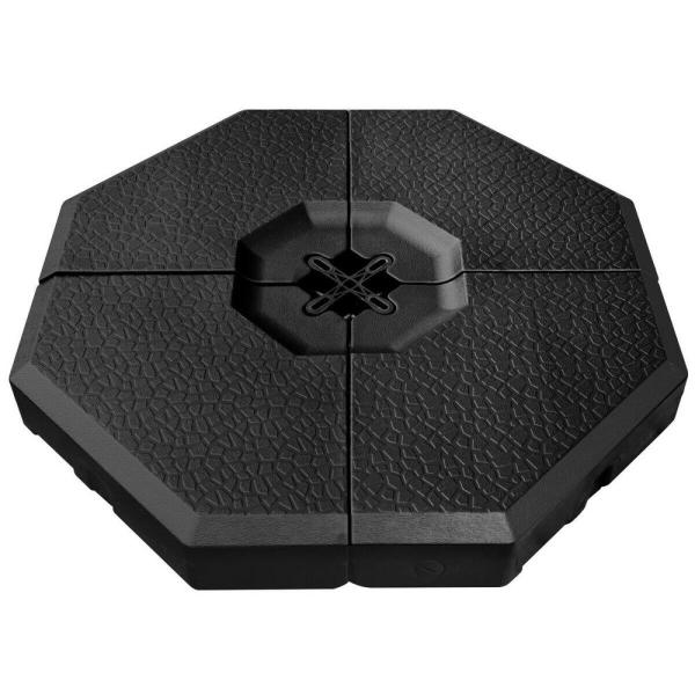 4-Pieces PE Offset Patio Umbrella Base in Black