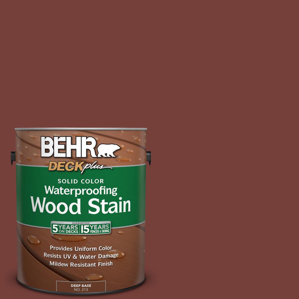 1 gal. #S170-7 Dark Cherry Mocha Solid Color Waterproofing Exterior Wood Stain