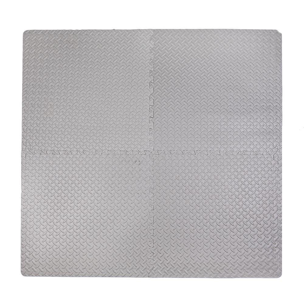 Steel Plate Grey 50 in. x 50 in. EVA Floor Mat Set