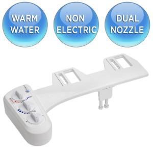 bioBidet Economy Class DUO Bidet Attachment in White by bioBidet