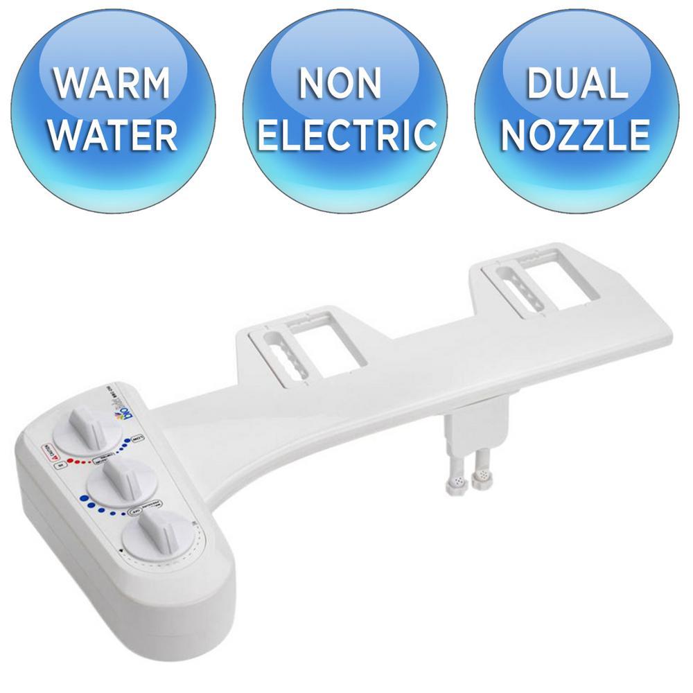 Economy Class DUO Non-Electric Bidet Attachment in White