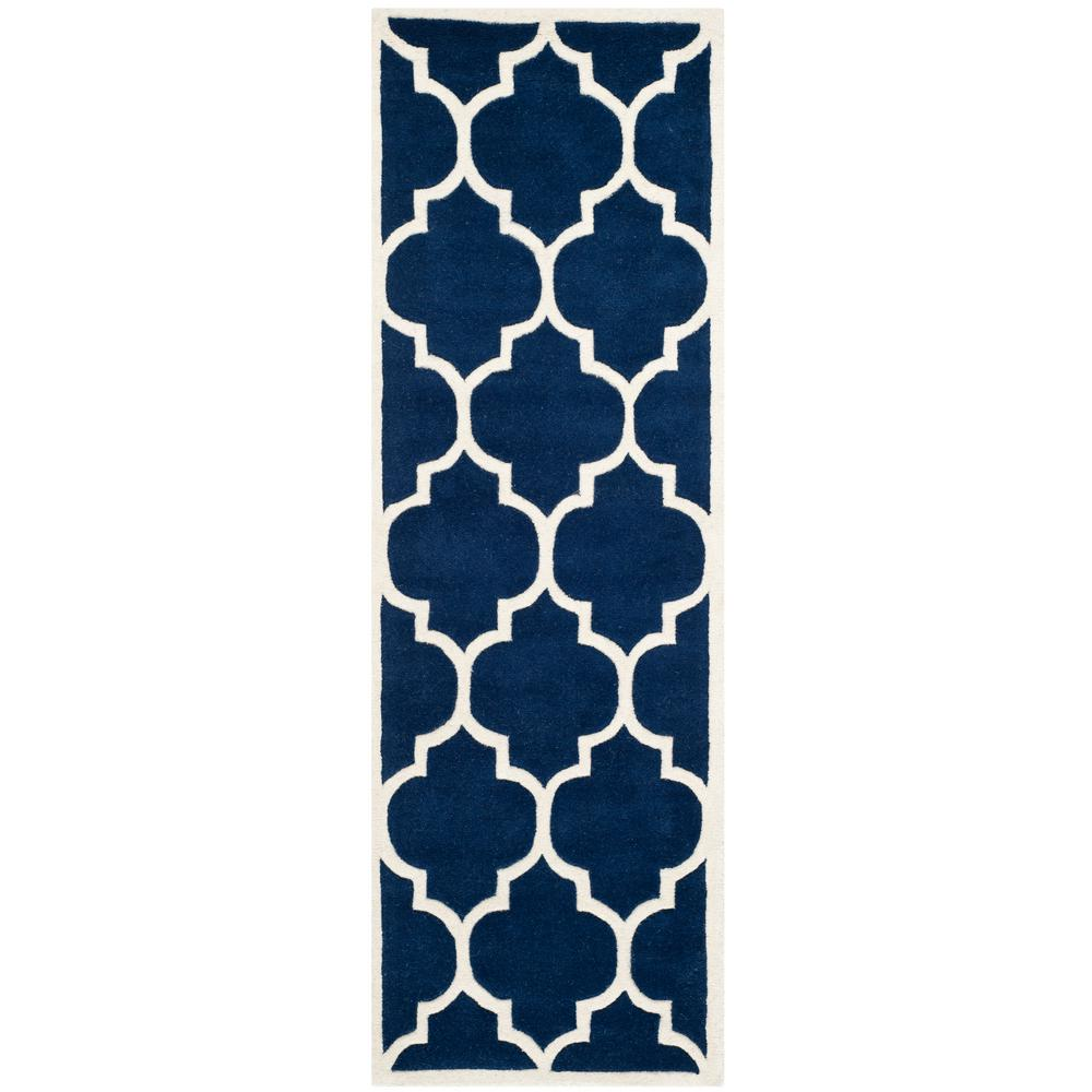 Chatham Dark Blue/Ivory 2 ft. 3 in. x 19 ft. Runner