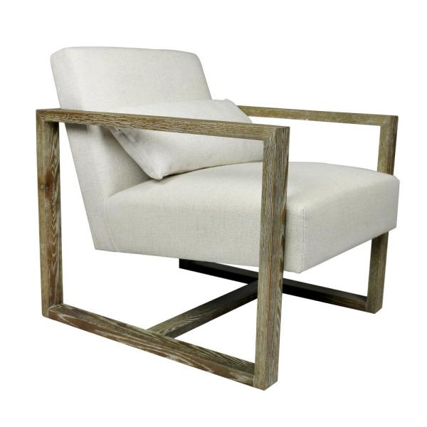 Nash Beige Arm Chair with Solid Oak Frame 88023016