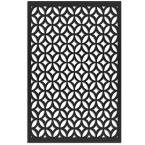 Moors Ellipses 32 in. x 4 ft. Black Vinyl Decorative Screen Panel