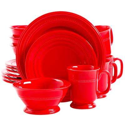Barberware 16-Piece Red Dinnerware Set