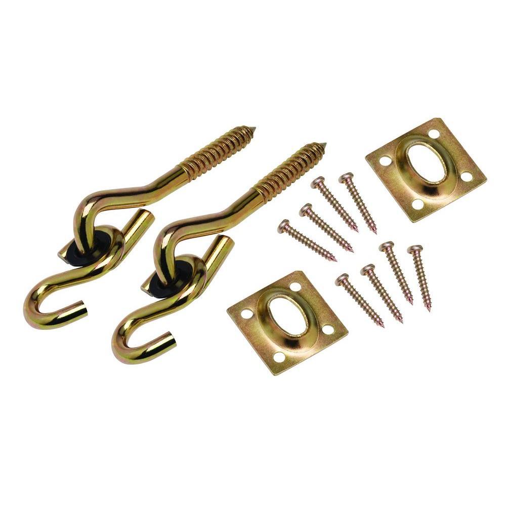 4 in. Yellow Chromate Swing Hardware Kit