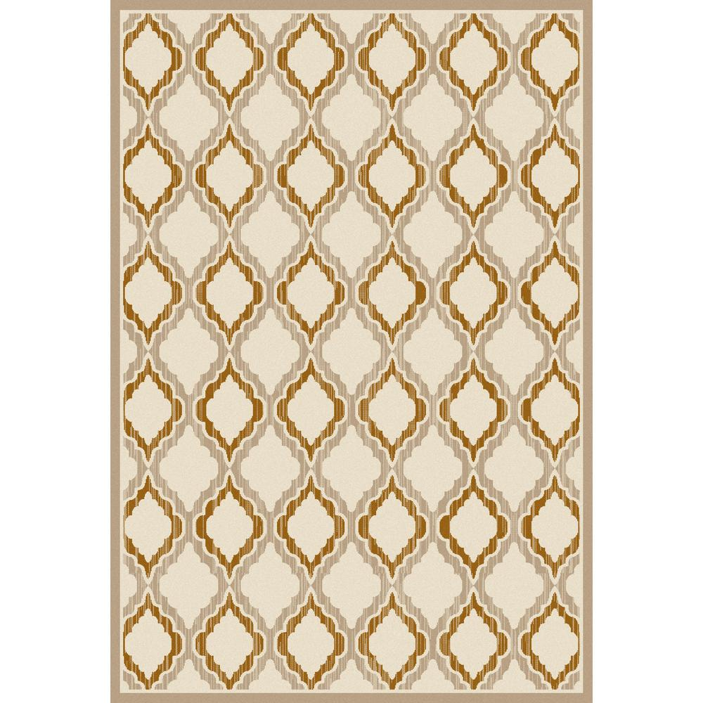 Milan Hopscotch Light Beige 6 ft. 7 in. x 9 ft. 2 in. Are...