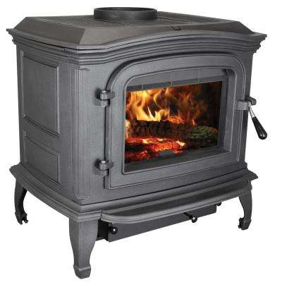 1,200 sq. ft. EPA Certified Black Cast Iron Wood Stove