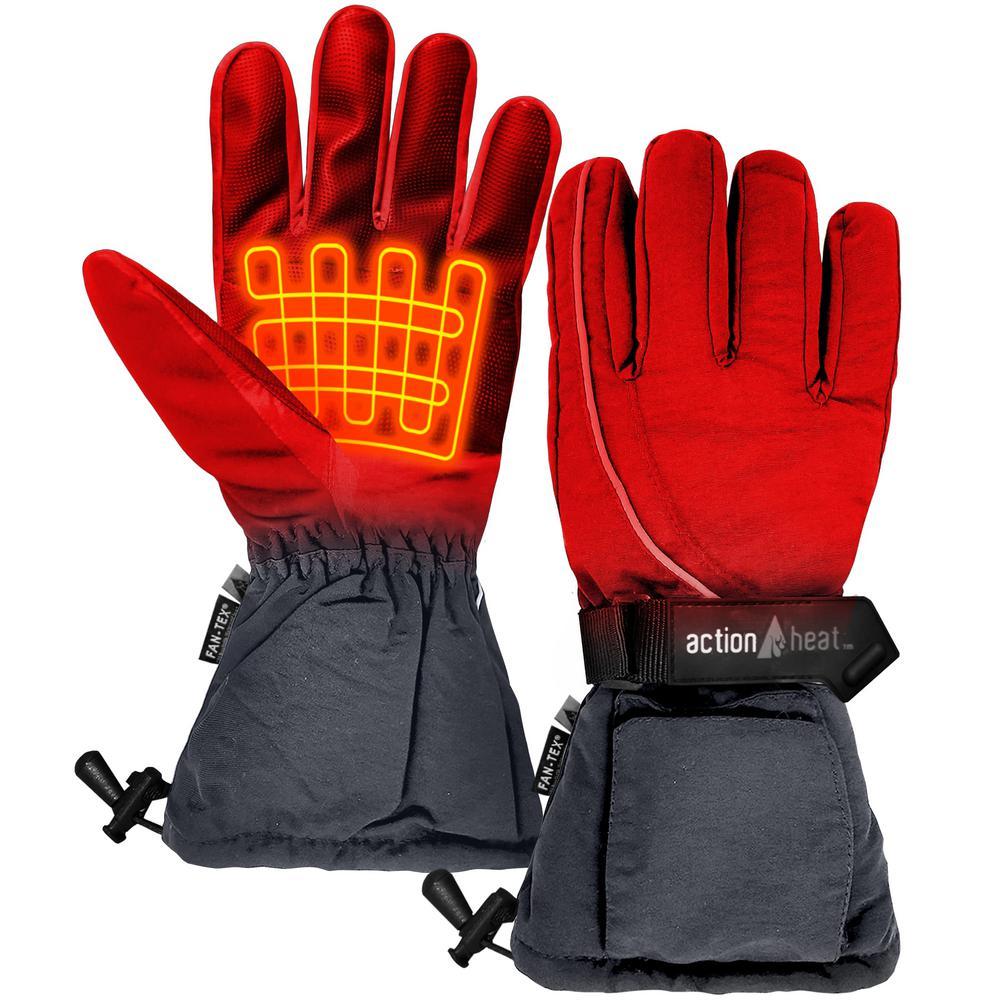 Women's 1-Size Grey AA Heated Snow Gloves