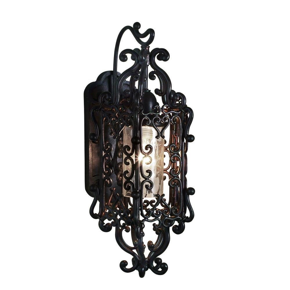 Eurofase Bravada Collection Wall Sconce Outdoor Chestnut Light Fixture-DISCONTINUED